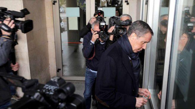 Eduardo Zaplana, en el Juzgado.