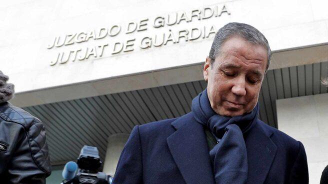 Eduardo Zaplana, en los juzgados.