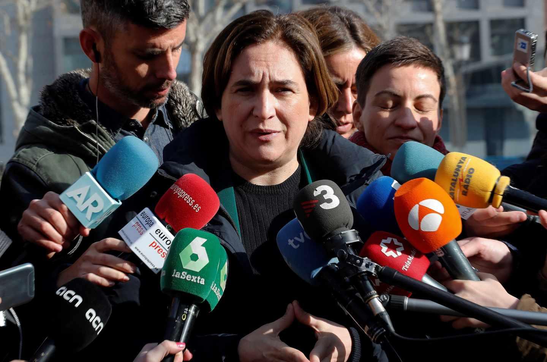 Ada Colau, alcaldesa de Barcelona, frente al Tribunal Supremo.