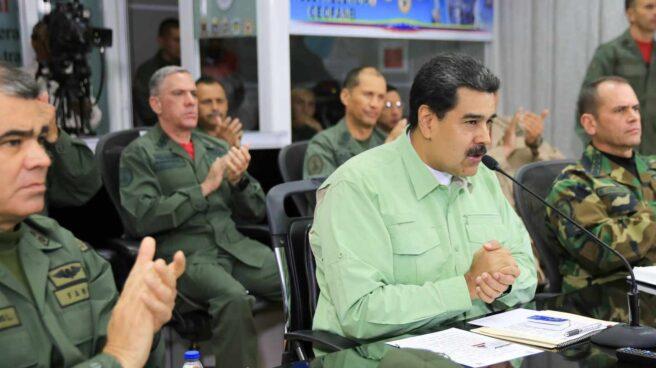 Nicolás Maduro participa en un acto con militares en Venezuela.