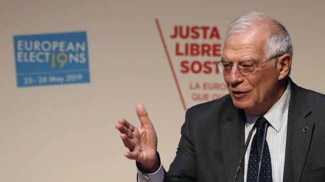 El ministro de Asuntos Exteriores, Josep Borrell, durante la Convención del Partido Socialista Europeo.