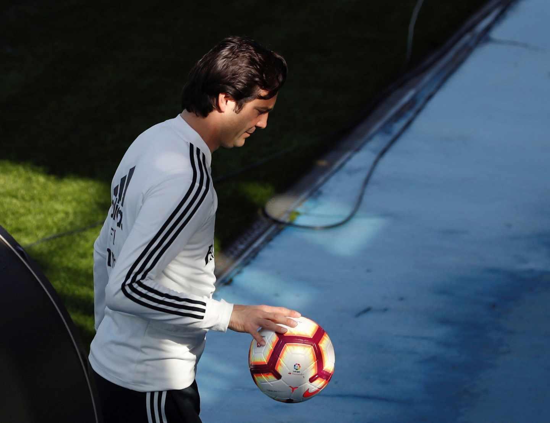 El técnico argentino del Real Madrid, Santiago Solari.