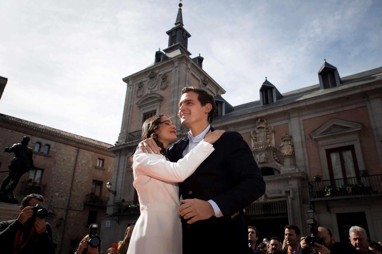 Arrimadas y Rivera, en el acto de Ciudadanos en Madrid.