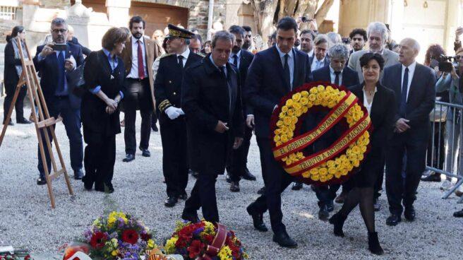 Pedro Sánchez, en el homenaje a Antonio Machado en Coilloure.