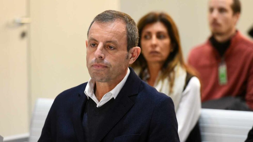 Sandro Rosell, en el banquillo de la Audiencia Nacional.