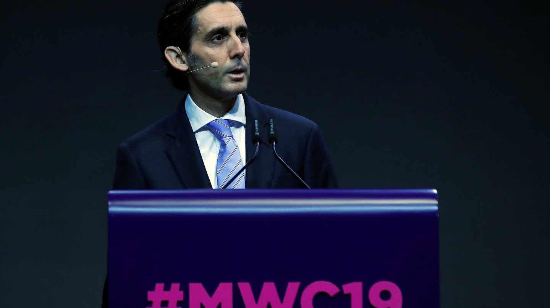 El presidente de Telefónica, José María Álvarez-Pallete, en el Mobile.