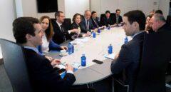Pablo Casado con su comité de dirección este lunes