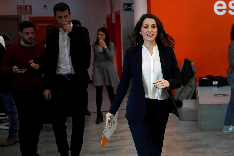 La portavoz de la Ejecutiva y secretaria de Formación de Ciudadanos, Inés Arrimadas.