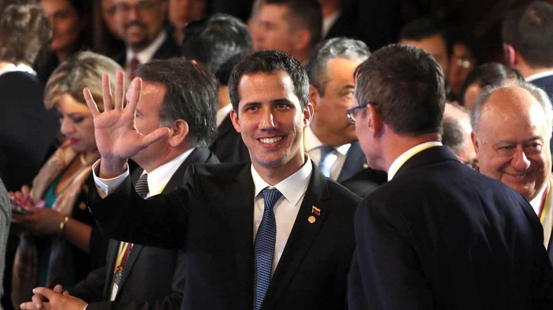 El mandatario interino de Venezuela, Juan Guaidó