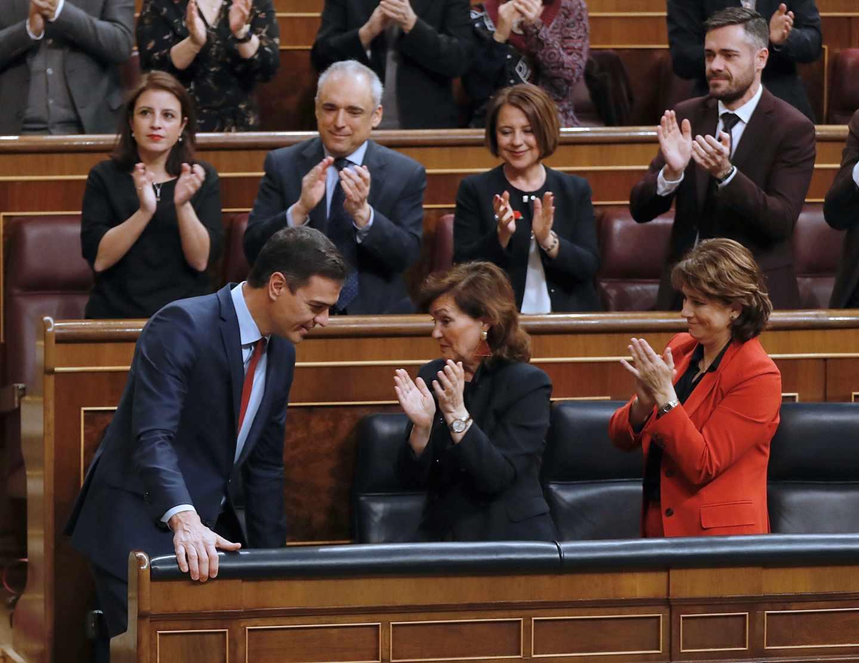 Pedro Sánchez, en la última sesión de control al Gobierno antes de la convocatoria de elecciones.
