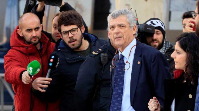 El expresidente de la Federación Española Ángel María Villar, a su llegada a la Audiencia Nacional.