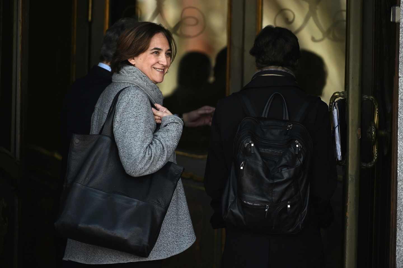 Ada Colau, entrando este jueves en el Tribunal Supremo para declarar en el juicio del 'procés'.