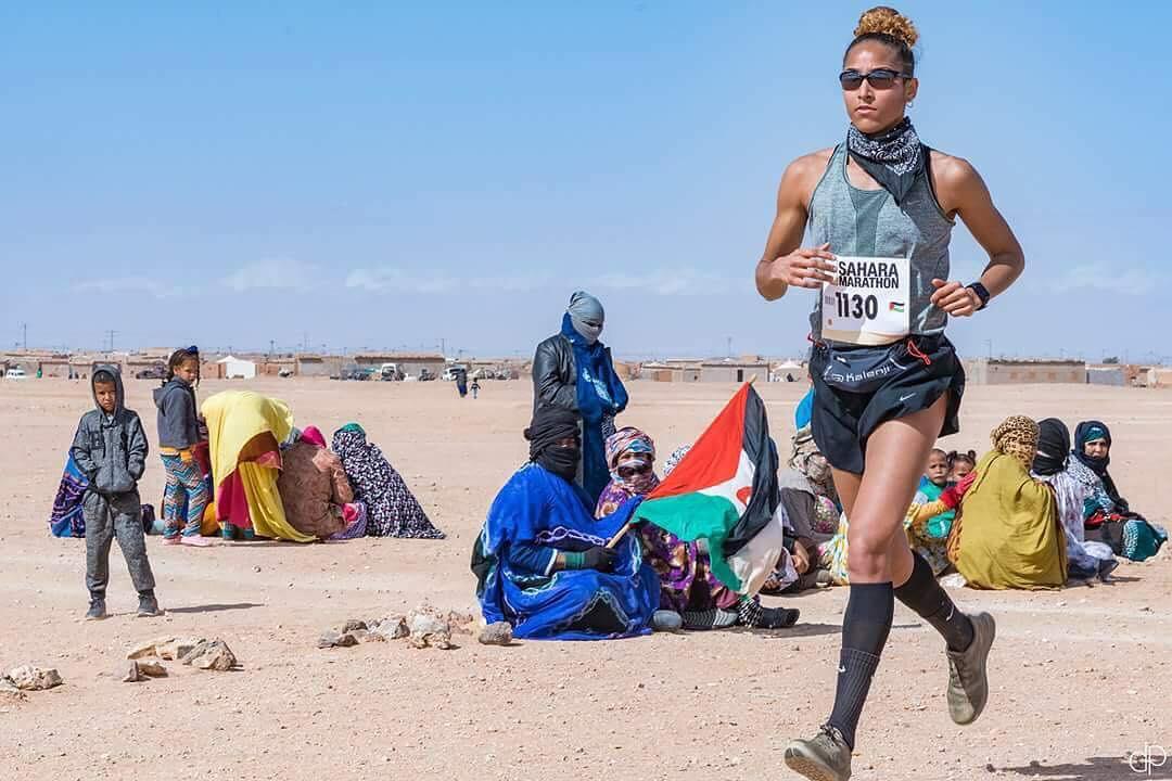 Inmaculada Zanoguera, disputado la pasada edición del 'Sahara Maratón'.