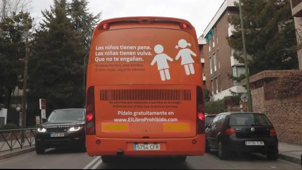 Autobús de la plataforma Hazte Oír