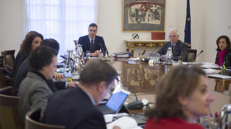 Reunión del Consejo de Ministros en la que se ha decidido el adelanto electoral.