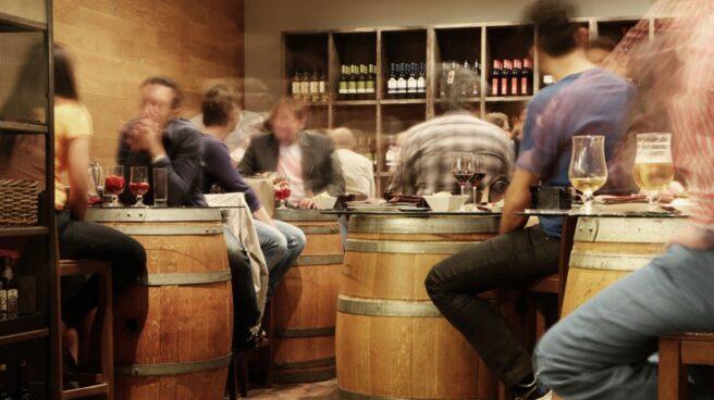 Ambiente en un bar.