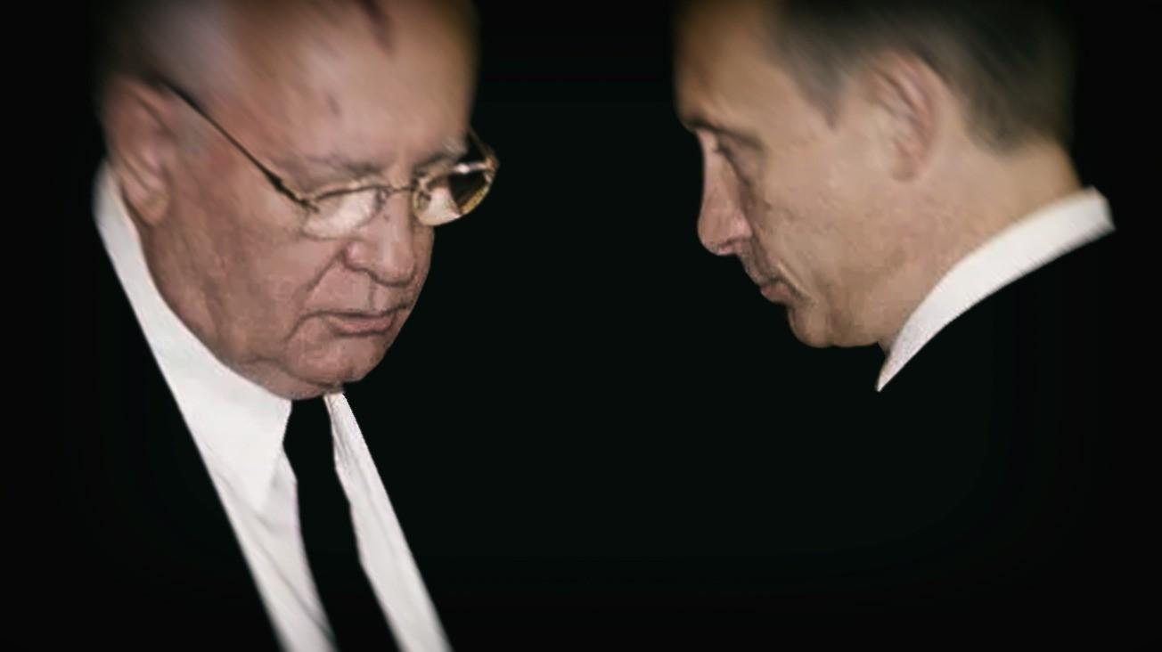 El ex líder soviético Mijail Gorbachov junto al actual presidente ruso, Vladimir Putin.