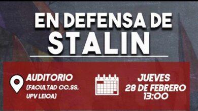 """La Universidad del País Vasco acoge un acto """"en defensa de Stalin"""""""