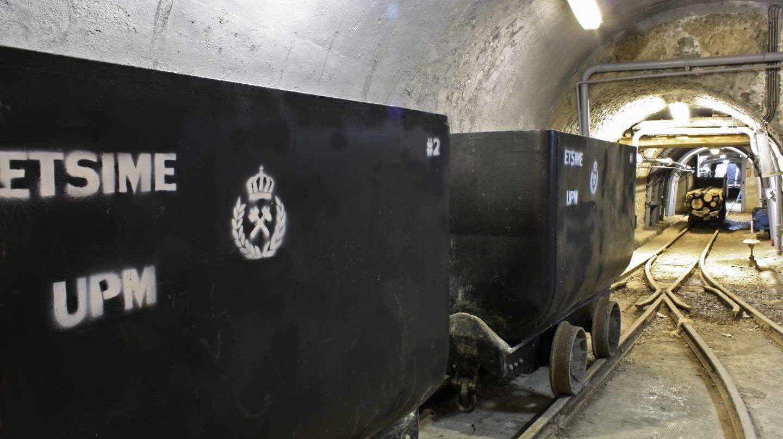 Interior de la mina