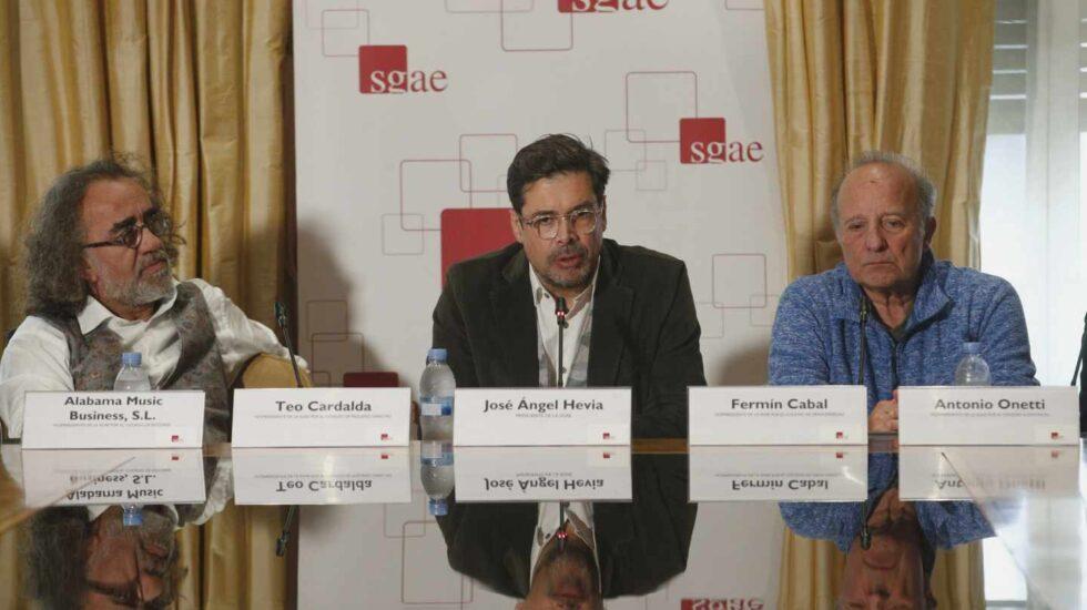 El gaitero José Ángel Hevia en noviembre, durante su presentación como presidente de la SGAE