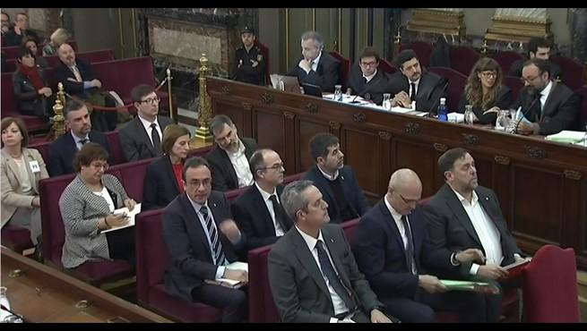 Juicio del procés: los encausados independentistas, en el Tribunal Supremo.