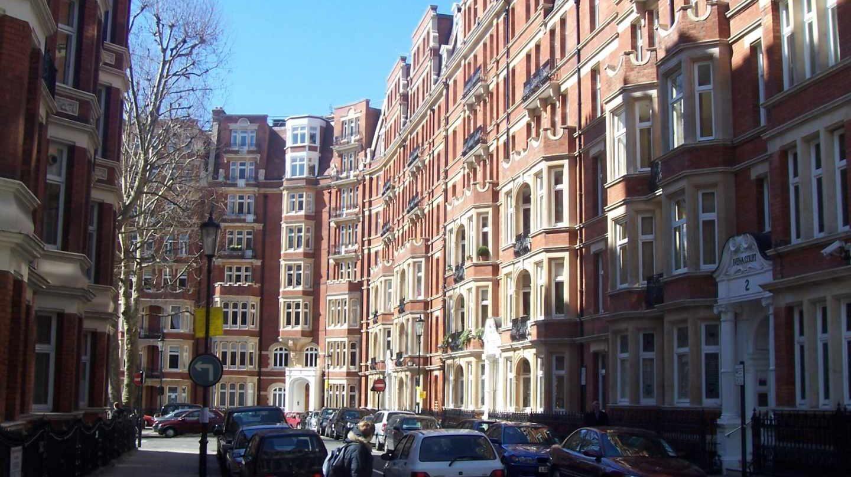 Viviendas en Kensington, uno de los barrios más caros de Londres.