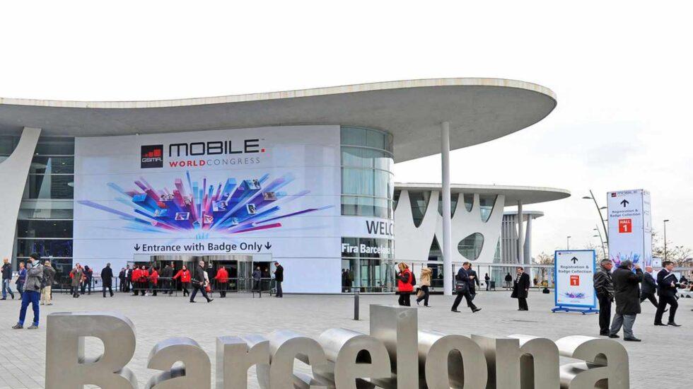 Entrada al Mobile World Congress de Barcelona.
