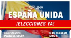 Convocatoria de la manifestación del 10-F contra Pedro Sánchez.