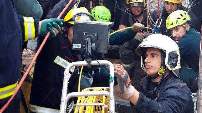 Parte del equipo de rescate de Julen.