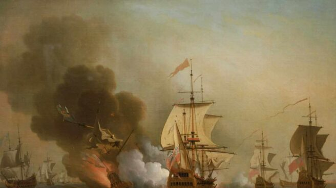 Recreación del ataque inglés sobre el San José