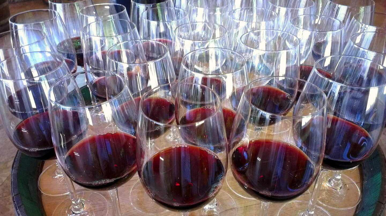 Copas de vino de Rioja.