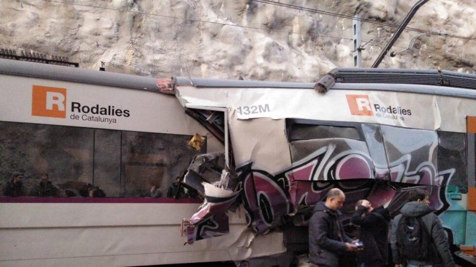Tren accidentado entre Manresa y Sant Vicenç de Castellet.