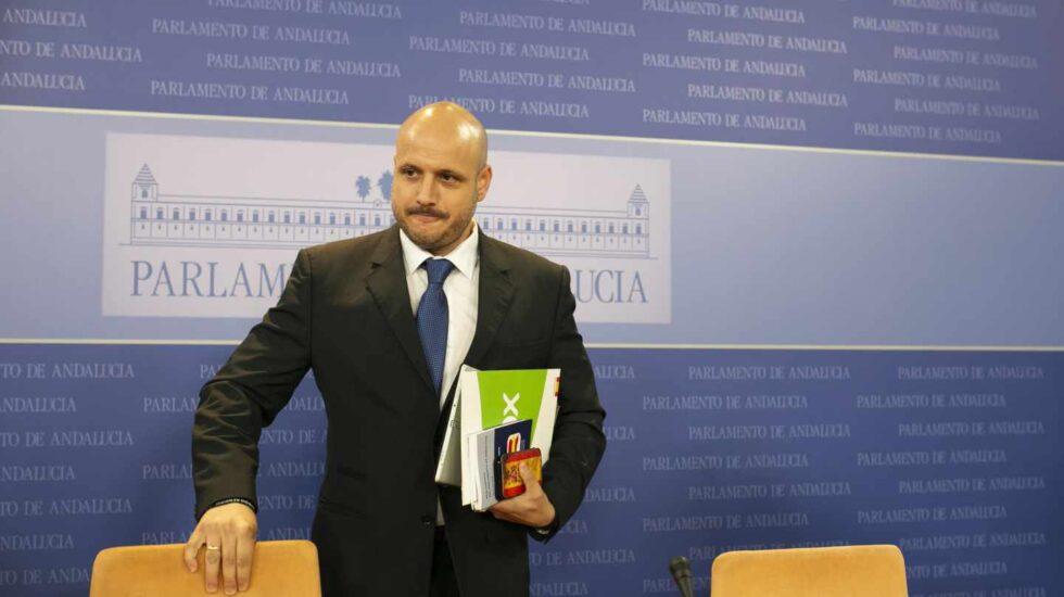 Rodrigo Alonso, secretario del grupo Vox en el Parlamento Andaluz.