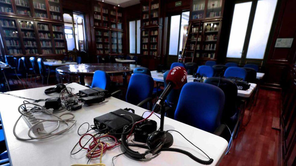 Sala de prensa para la cobertura del juicio al procés