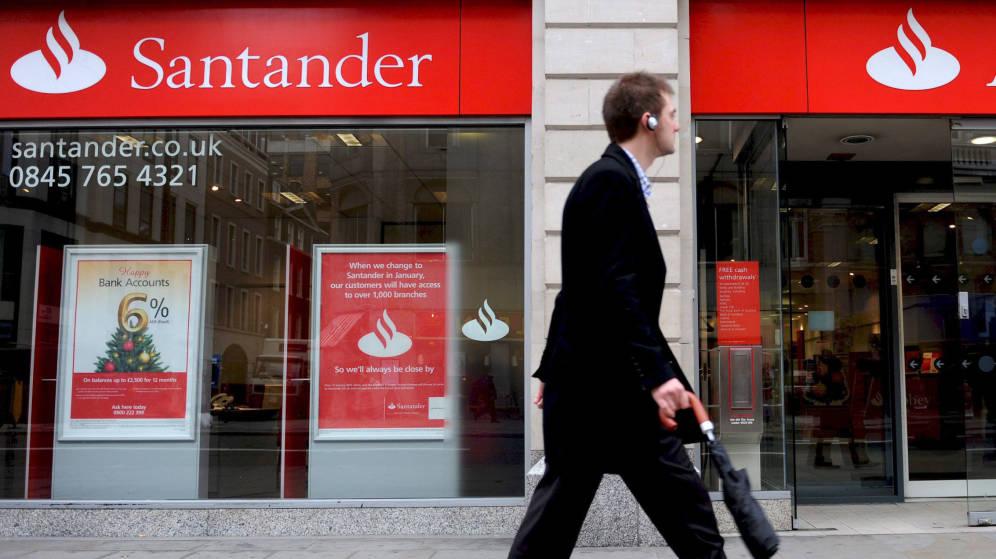 Oficina de Santander UK, en Londres.