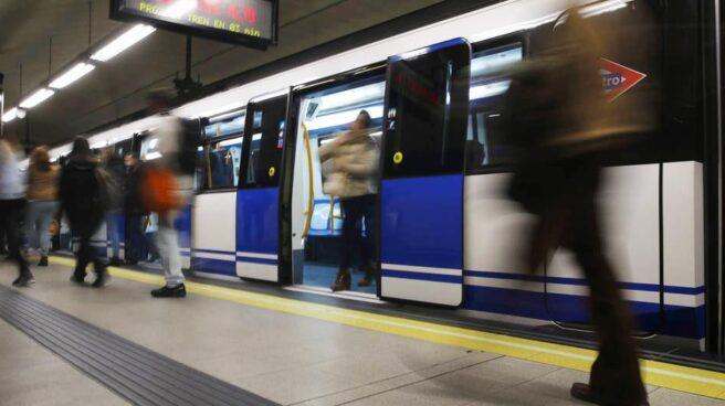 Una parada del metro de Madrid.