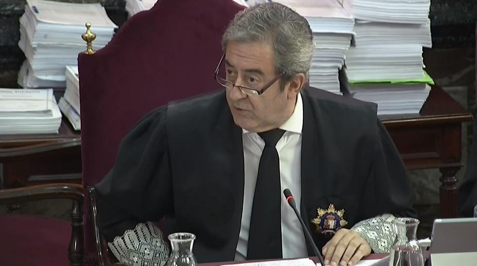 Juicio al procés: El fiscal Javier Zaragoza, en el Tribunal Supremo.