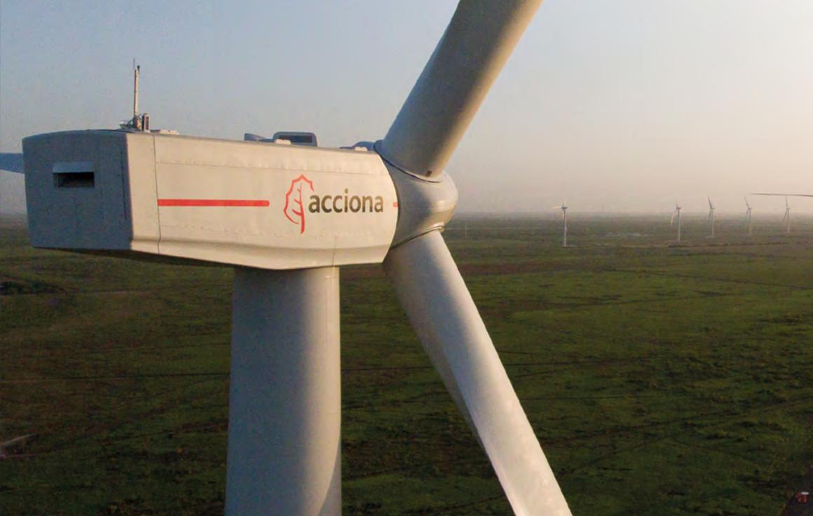 Un aerogenerador de Acciona Energía.