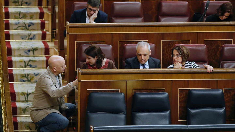 Adriana Lastra, en la bancada socialista.