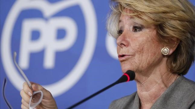 La ex presidenta de la Comunidad de Madrid y ex portavoz del ayuntamiento, Esperanza Aguirre