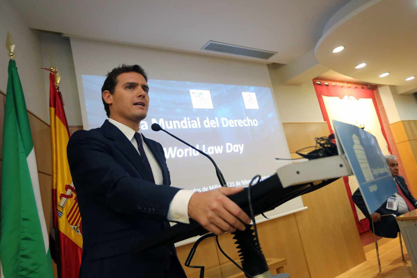 Albert Rivera recibe el premio 'World Peace & Liberty Award' de la World Jurist Association (WJA).