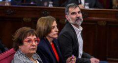 Dolors Bassa, Carme Forcadell y Jordi Cuixart.