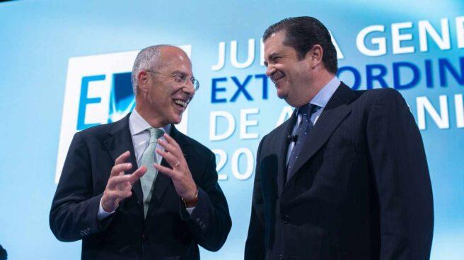 El consejero delegado de Enel, Francesco Starace, y el presidente de Endesa, Borja Prado.