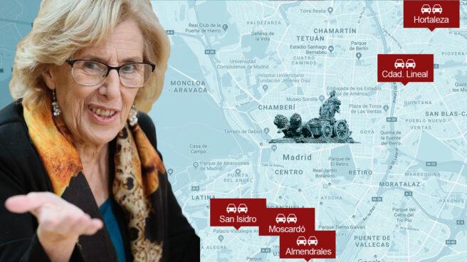 Manuela Carmena y el nuevo mapa de zona azul en Madrid