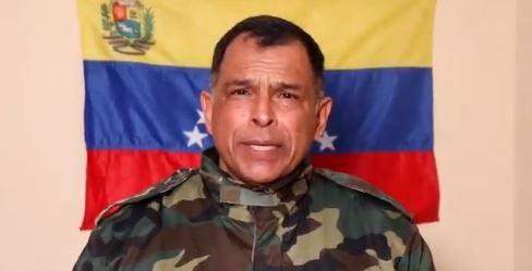 Coronel Vásquez, uno de los militares que se han pronunciado en contra de Nicolás Maduro y a favor de Juan Guaidó.