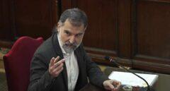 Jordi Cuixart sale de la cárcel de Lledoners para ser operado en Manresa (Barcelona)