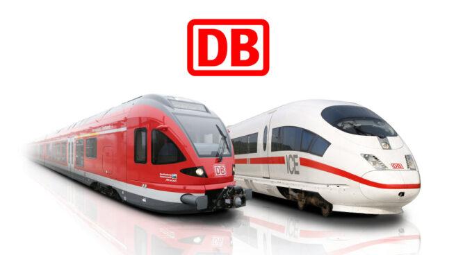 Trenes convencionales y de alta velocidad de Deutsche Bahn.