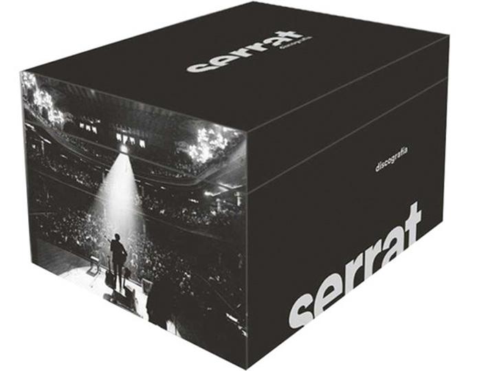 Caja discográfica de Serrat, discografía completa El Corte Inglés