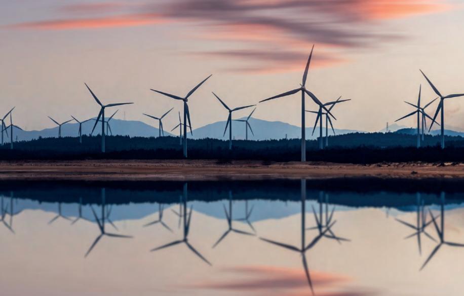 Aerogeneradores de un parque eólico.