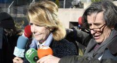 Esperanza Aguirre, a su llegada a los tribunales.